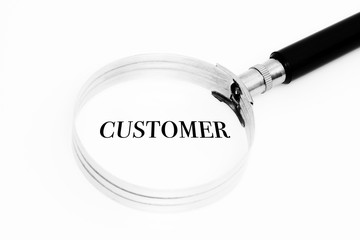 Customer in the focus