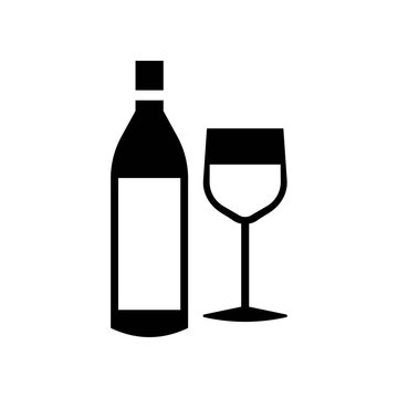 Wine icon vector icon. Simple element illustration. Wine symbol design. Can be used for web and mobile.