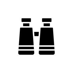 binoculars in glyph style icon vector