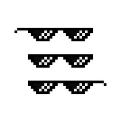 7b97a707204 Pixel glasses. Gangster. Vector icon
