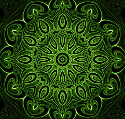 abstract fractal futuristic green pattern