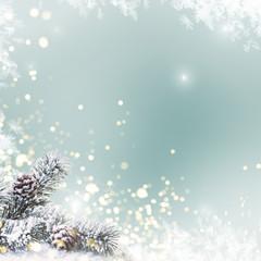 Hintergrund Karte Weihnachten Bokeh