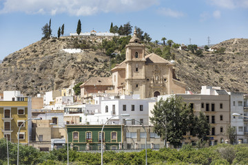 a view of Gador town and the church, Almeria, Andalusia, Spain