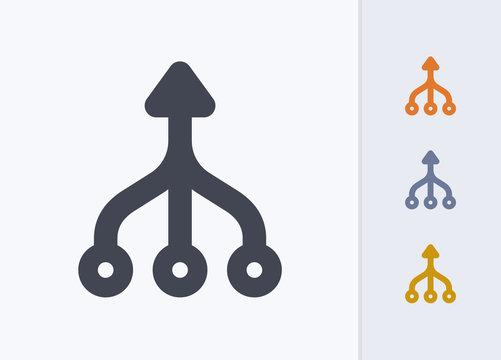 Merged Arrows - Pastel Stencyl Icons