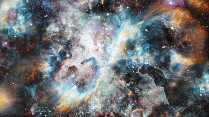 Universe filled with nebula and galaxy. Elements of this image furnished by NASA