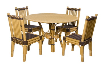 set of furniture from a rattan