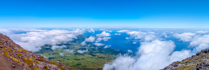 View from mount Pico, Azores