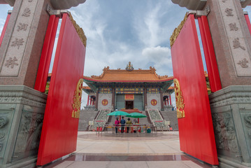 Nonthaburi, Thailand july 21 2018-Chinese temple The Dragon Temple is a landmark sasot na. White Wednesday-attractions in Thailand plant, Lotus, gold country, abang uncovered.