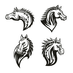Vector icon of heraldic royal horse head