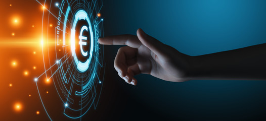 Euro Currency Money Symbol Icon Sign. Business Finance Concept