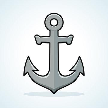 Vector anchor icon design clipart