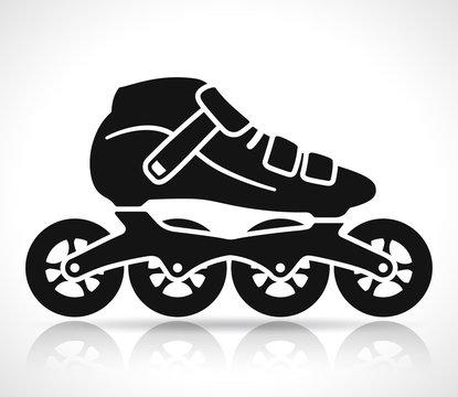 Vector roller skate icon design