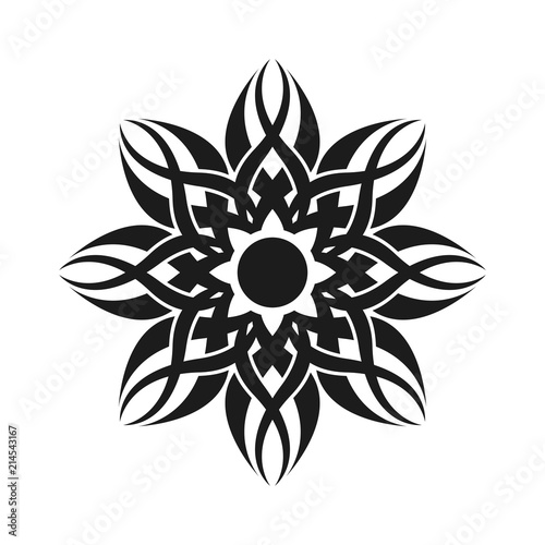 Abstract Simple Tribal Sign Graphic Tattoo Design Stockfotos Und