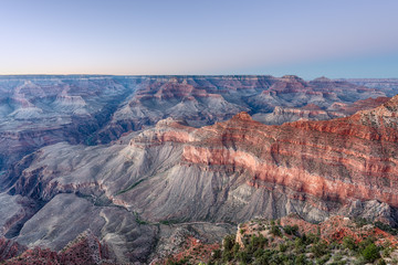 Colorful Grand Canyon after Sunset. Blue Hour HDR from Mather Point.