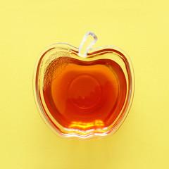 rosh hashanah (jewesh holiday) concept - honey traditional holiday symbol.