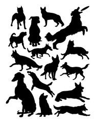 Dogs silhouette. Good use for symbol, logo, web icon, mascot, sign, or any design you want.