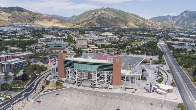Aerial View Of Rice–Eccles Stadium On The Campus Of The University Of Utah