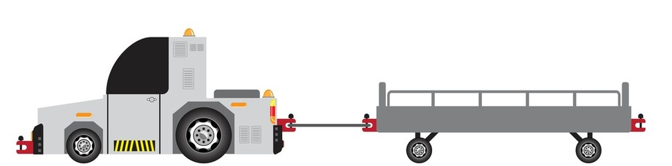 Airport Luggage Towing Truck