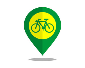bike marker pin path image vector icon logo