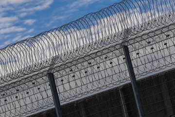 Gefängniszaun Stacheldraht Gefangenschaft