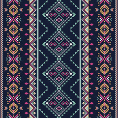 Ethnic seamless pattern. Aztec tribal art print.