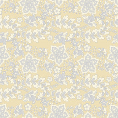 Seamless vector pattern with flower