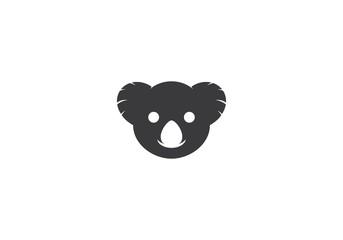 Koala logo ilustration vector