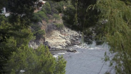 Wall Mural - Coast landscape of Cap Roig in Costa Brava, Spain.