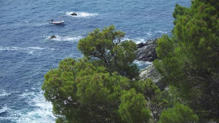 Fotomurales - Coast landscape of Cap Roig in Costa Brava, Spain.