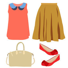 fashion women's clothing, set