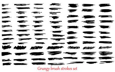 grungy vector brush strokes