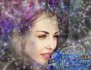 The woman in the esoteric world, astrology and numerology