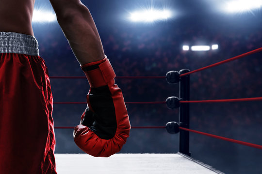 Red boxing glove