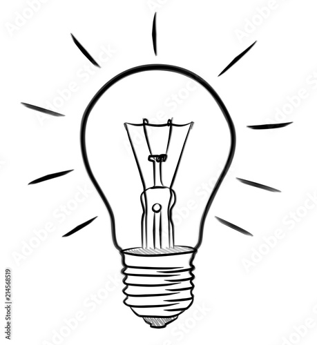 Hand Drawn Lightbulb Sketch Stock Photo And Royalty Free Images On