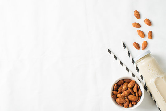 Alternative dairy almond milk with nuts