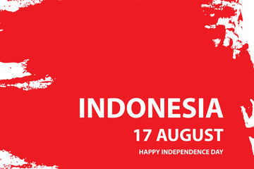Happy independence day of indonesia background