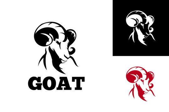 Goat Logo Template Design Vector, Emblem, Design Concept, Creative Symbol, Icon