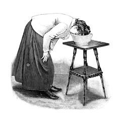 Augenbad.aus: Anna Fischer Dückelmann: Die Frau als Hausärztin, 2. Aufl., Stuttgart, .1907, S. 311, Fig. 175.