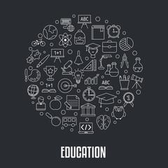 Education design concept.