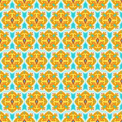 Colorful arabesque seamless beautiful background pattern.