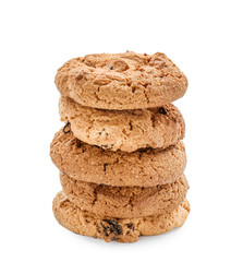 Delicious cookies on white background
