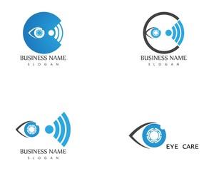 Eye focus icon logo template