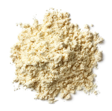 Heap of banana protein powder