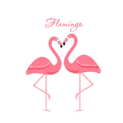 Cartoon flamingo bird. vector illustration
