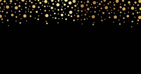 Beautiful festive background with falling gold circles vector