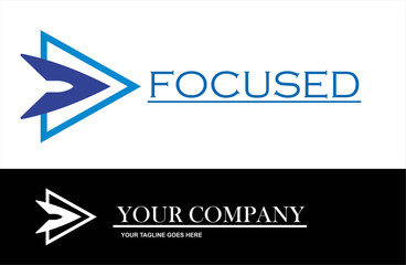 Focus Business Logo Direction Technology Abstract Vector And Design Or Template Arrow