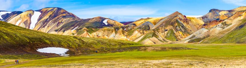 Beautiful colorful volcanic mountains Landmannalaugar in Iceland Wall mural