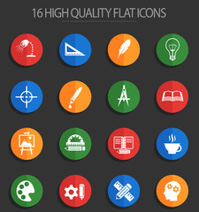 creative process 16 flat icons