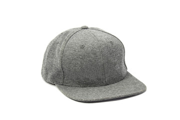 gray cap on white background