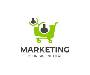 Affiliate marketing logo template. Referral program vector design. Network marketing logotype